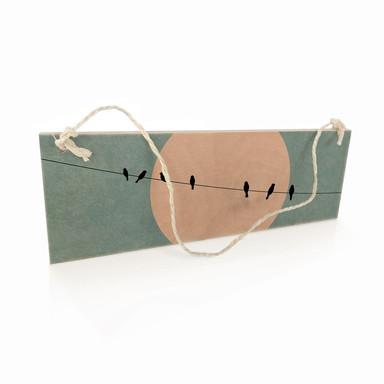 Holzschild Kubistika - Die Schönheit der Stille