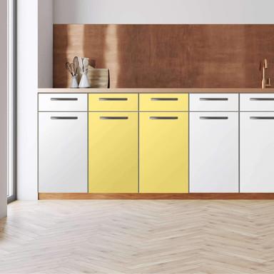 Küchenfolie - Unterschrank 80cm Breite - Gelb Light