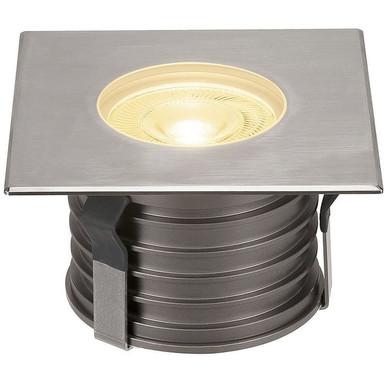 LED Bodeneinbauleuchte Dasar Premium, eckig, 177 mmx177 mm, IP67. Edelstahl 316. Aluminium, 24°
