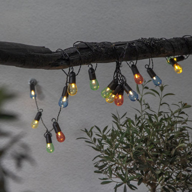 LED Party-Kette Small Hooky in Mehrfarbig 16-flammig IP44