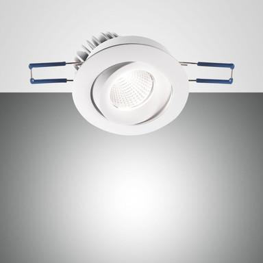 LED Spot Set Sigma in transparent und weiss 7W 800lm schwenkbar rund