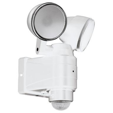 LED Wandleuchte Casabas 2x3.75W 2x400lm IP44 Kaltweiss mit Bewegungsmelder in Weiss