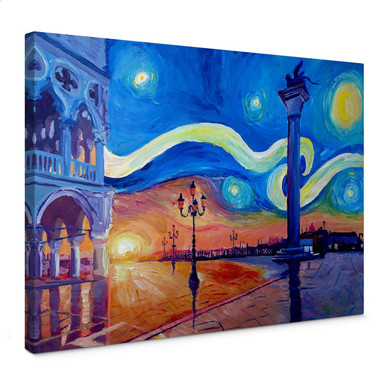 Leinwandbild Bleichner - Venedig bei Nacht
