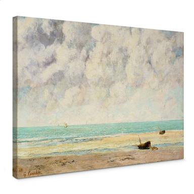 Leinwandbild Courbet - Die ruhige See