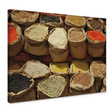 Leinwandbild Indischer Markt