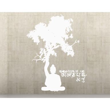 Wohnansicht - Wandtattoo Meditating Buddha