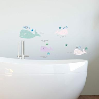 Wandtattoo Muster-Wale-Set