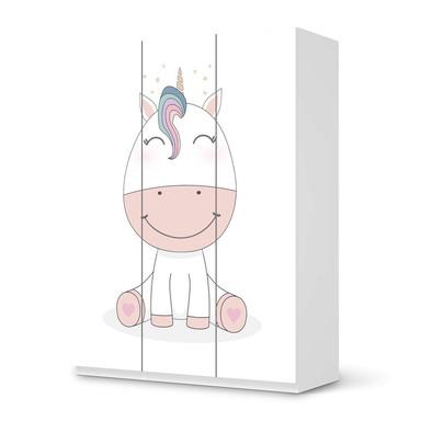 Folie IKEA Pax Schrank 201cm Höhe - 3 Türen - Baby Unicorn- Bild 1