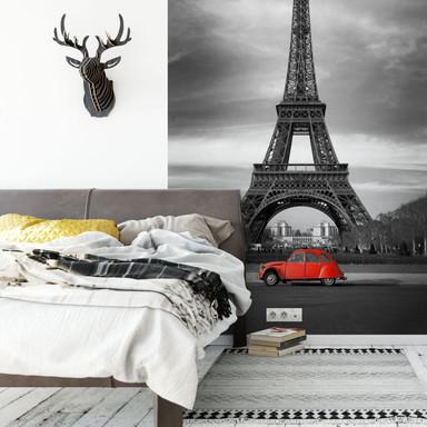 Fototapete La Vie est Belle - rot - 144x260cm - Bild 1