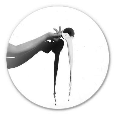Glasbild Das Milchglas - rund