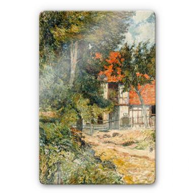 Glasbild Gauguin - Bauernhaus in der Normandie
