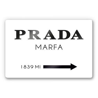 Glasbild Prada Marfa