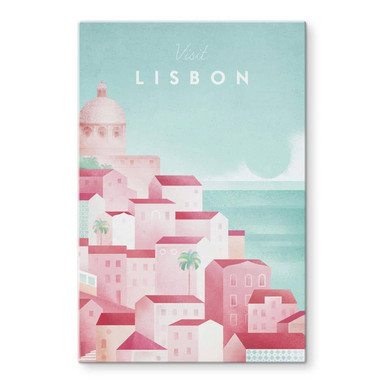 Glasbild Rivers - Lissabon