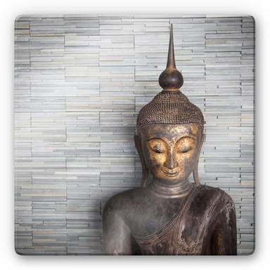 Glasbild Thailand Buddha - quadratisch