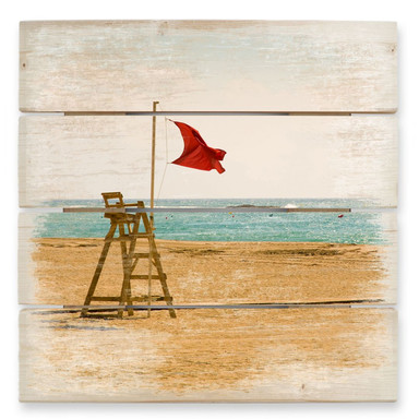Holzbild Rote Fahne