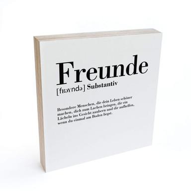 Holzbild zum Hinstellen - Grammatik - Freunde - 15x15cm - Bild 1