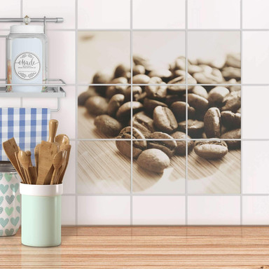 Klebefliesen - Coffee Beans