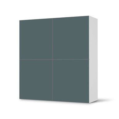 Klebefolie IKEA Besta Schrank 4 Türen - Blaugrau Light- Bild 1