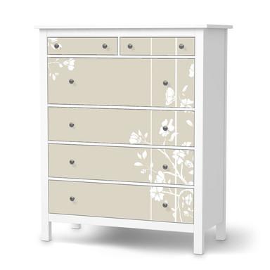 Klebefolie IKEA Hemnes Kommode 6 Schubladen - Florals Plain 3- Bild 1