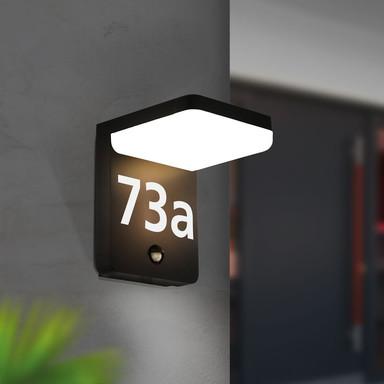 LED Wandleuchte Amarosi 10W 830lm IP44 Warmweiss mit Bewegungsmelder