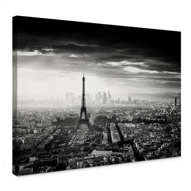 Leinwandbild Marx - Paris im Nebel