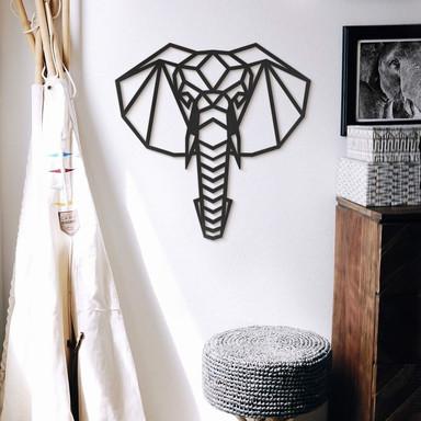 MDF - Holzdeko Origami Elefantenkopf