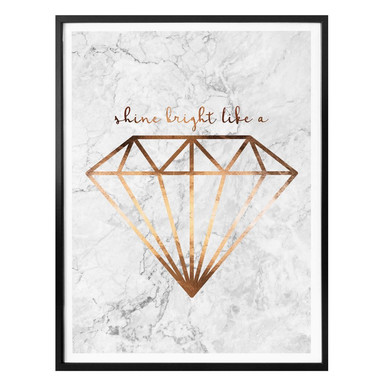 Poster Kupferoptik - Shine bright like a Diamond