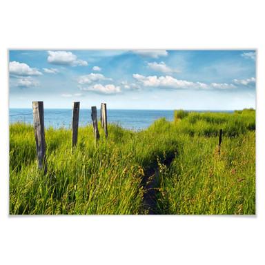 Poster Weg zum Meer