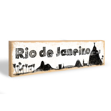 Schlüsselbrett Rio de Janeiro Skyline + 5 Haken
