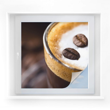 Sichtschutzfolie Coffee 2 - quadratisch