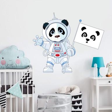 Wandtattoo Panda im All