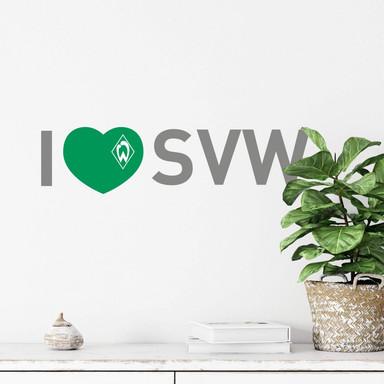 Wandtattoo Werder Bremen I Love SVW