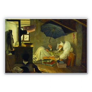 Hartschaumbild Spitzweg - Der arme Poet