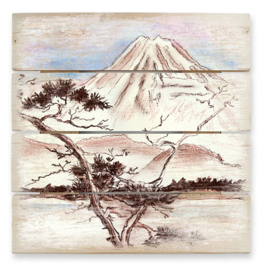 Holzbild Toetzke - Asian Landscape