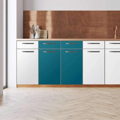 Küchenfolie - Unterschrank 80cm Breite - Türkisgrün Dark