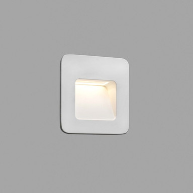 LED Wandeinbauleuchte Nase in Weiss 94x94mm