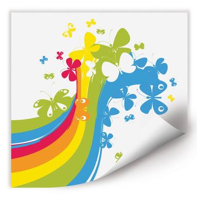 Wallprint Butterfly Rainbow