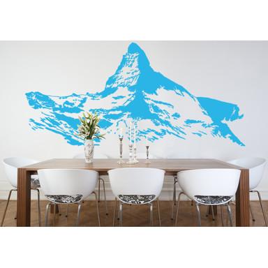 Wohnansicht - Wandtattoo Berg Matterhorn