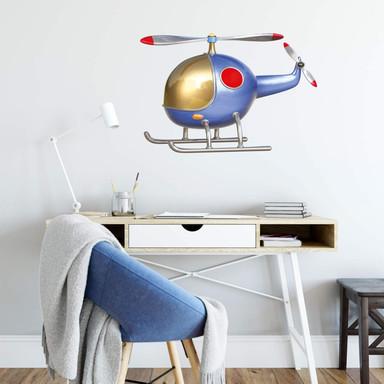Wandtattoo Michel Agullo - Helikopter (blau)