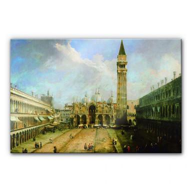 Acrylglasbild Canaletto - Die Piazza San Marco