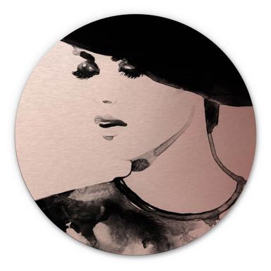 Alu-Dibond Bild mit Kupfereffekt Fashion Victim - Rund
