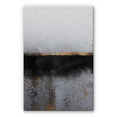 Alu-Dibond-Silbereffekt Fredriksson - Russ und Gold