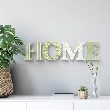 Dekobuchstaben 3D HOME grün