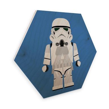 Hexagon - Holz Birke-Furnier Gomes - Stormtrooper