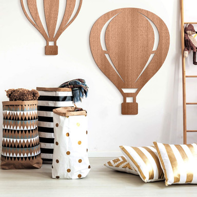 Holzdeko Mahagoni - Heissluftballon
