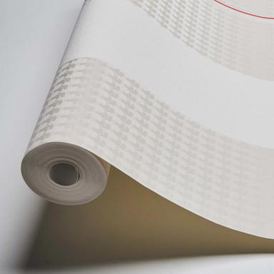 Karl Lagerfeld Wallpaper Vliestapete Ribbon grau, rot, weiss