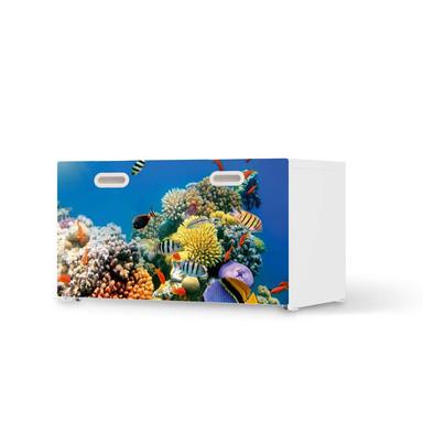 Möbelfolie IKEA Stuva / Fritids Bank mit Kasten - Coral Reef