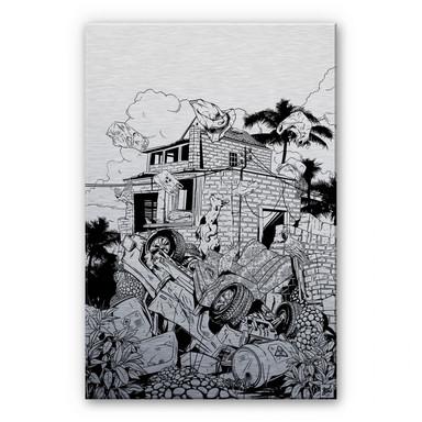 Alu Dibond-Silbereffekt - Drawstore - Pickup