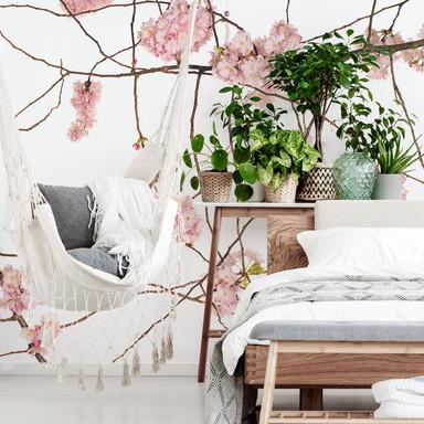 Fototapete Kadam - Japanische Kirschblüte - 192x260cm - Bild 1