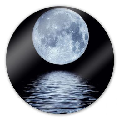 Glasbild Moon - rund